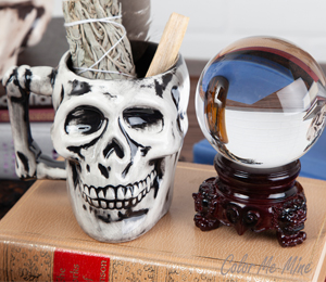Tustin Antiqued Skull Mug